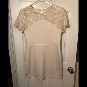Banana Republic Ivory Lace Sheath Dress Size 10